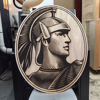 Amex Centurion Engraving
