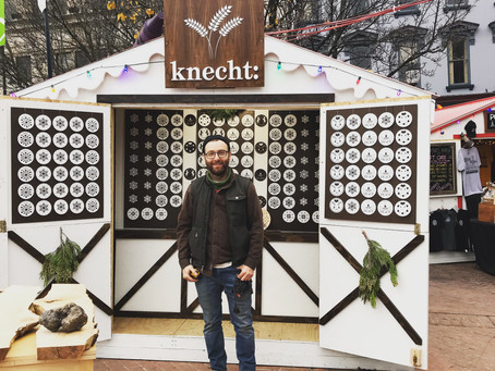 The Knecht Laser Cut Ornament Lodge at the Holiday Shopping Village in Easton, PA