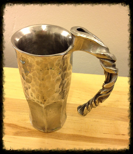 Hand-forged Stainless Steel Beer Mug