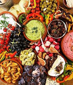 Mixed borrelplank 🧀🍇🥖_#veggies #dips
