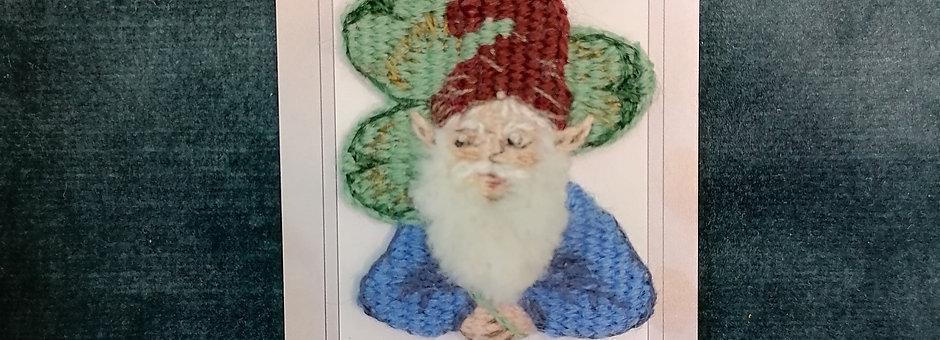 Broche gnome & trèfle
