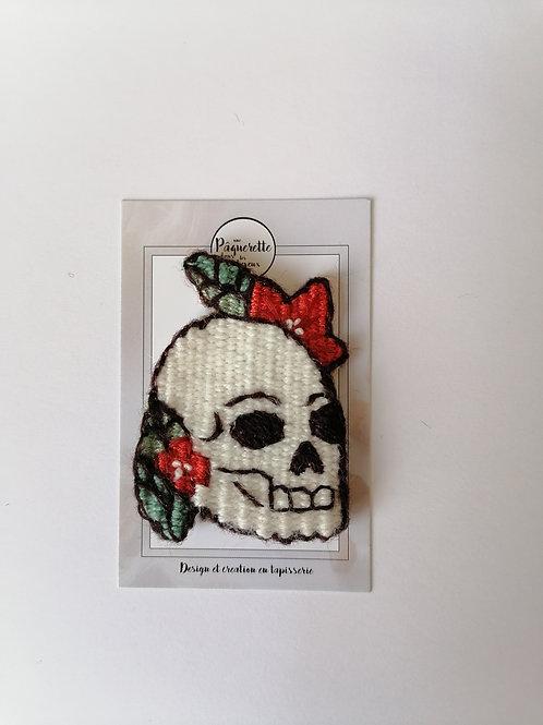 Broche tattoo 50's crâne