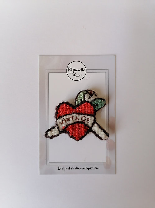 Broche tattoo 50's love vintage