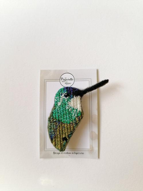 Broche colibris vert