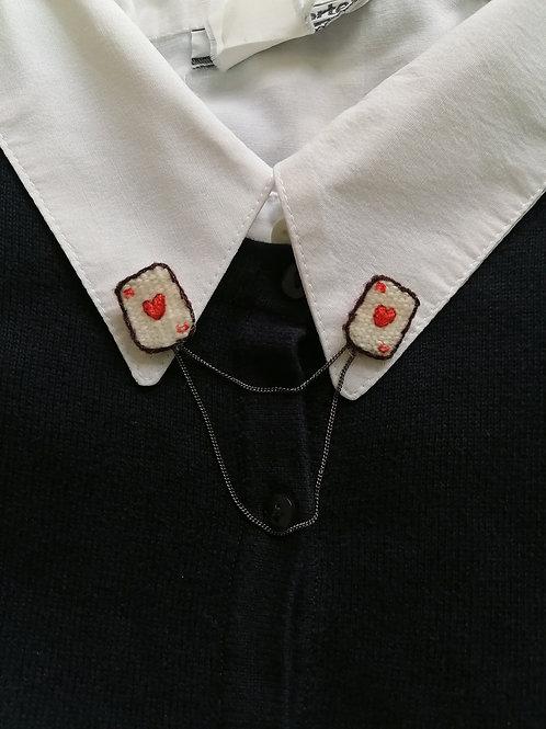 Double pin's  As de coeur