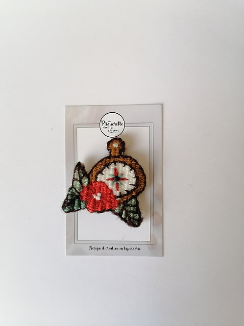 Broche tattoo 50's bousolle