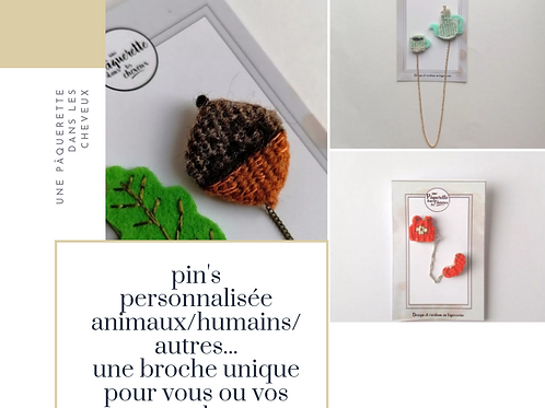 Commande : double pin's/ petite taille