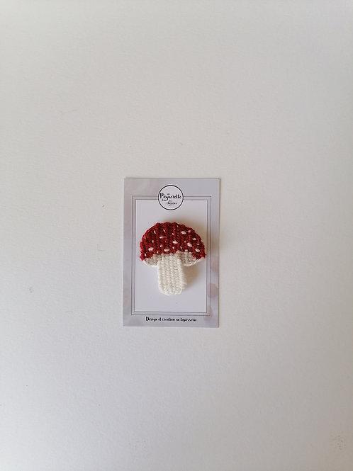 Broche champignon