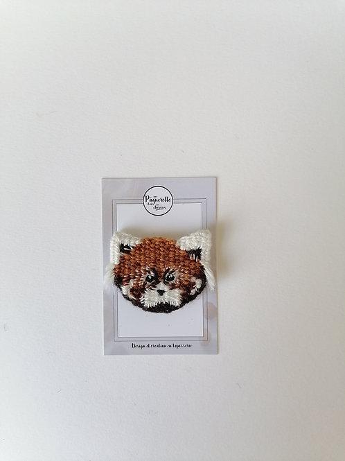 Broche panda roux clair