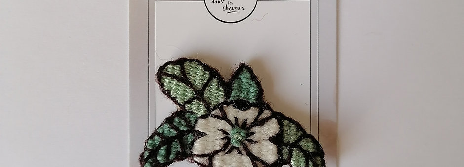 Broche tattoo 50's fleur