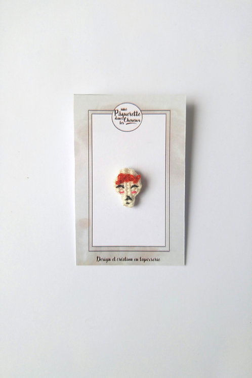 Pin's calaveras rouge