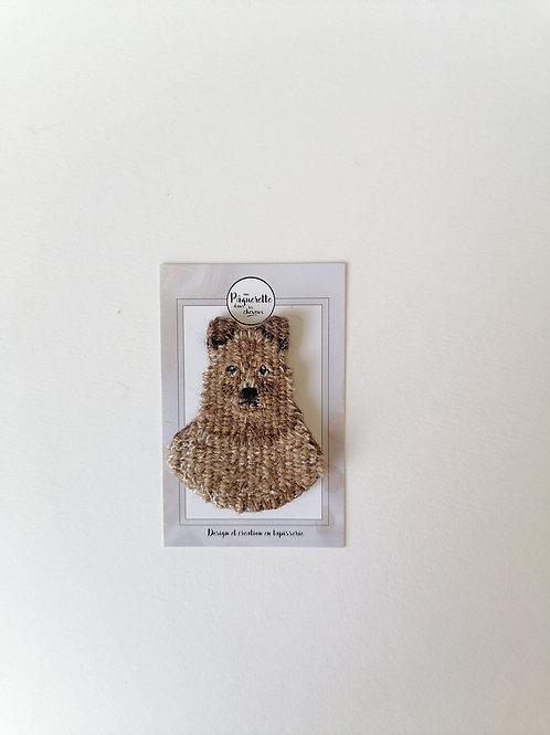 Broche maman ours brun
