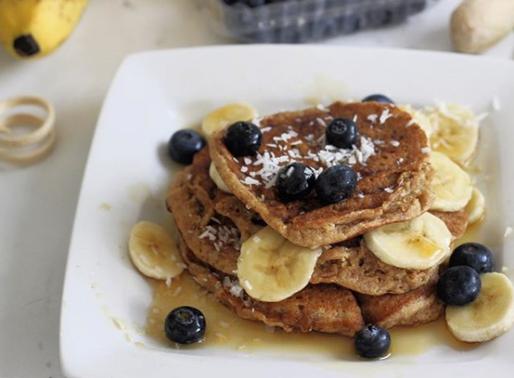 Vegan Blueberry Banana Pancakes