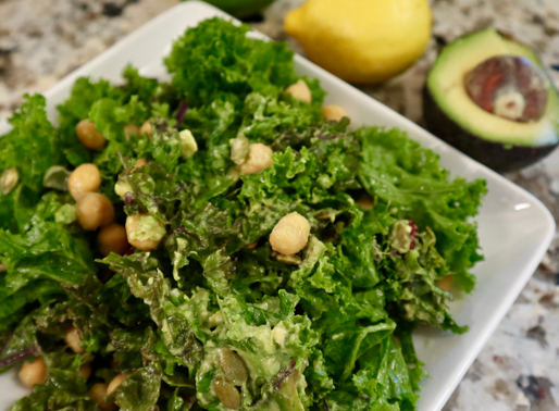 Loaded Kale Salad (+ Kale Tips)