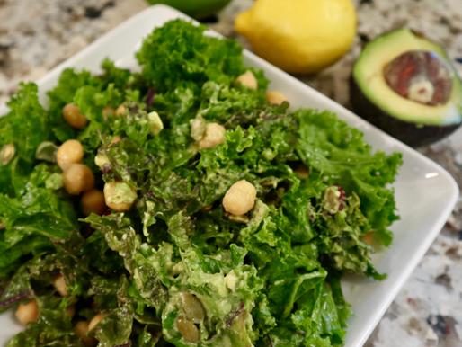 Loaded Kale Salad (+ Kale Tips)