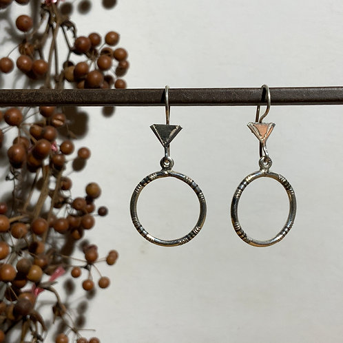 Tuareg mini circle earring from Niger
