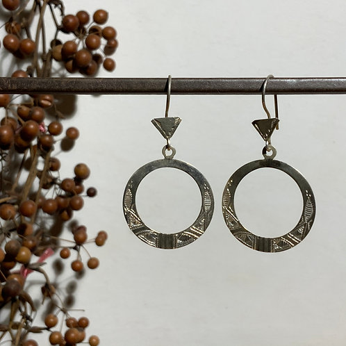 Tuareg circle earring from Niger