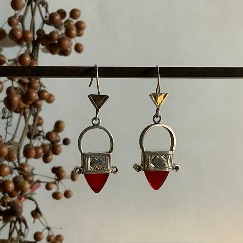 Tuareg earring RED from Niger