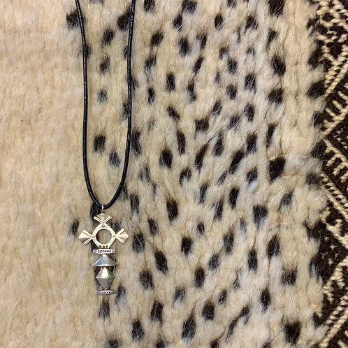 Tuareg Takarmenda Cross silver necklace