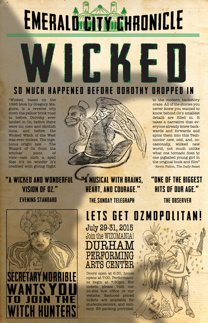 Wicked Promotional Poster