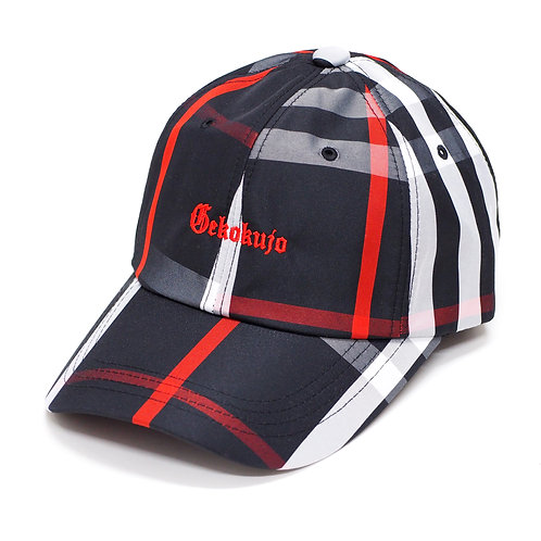 CHECK 6 PANEL CAP [BLACK]