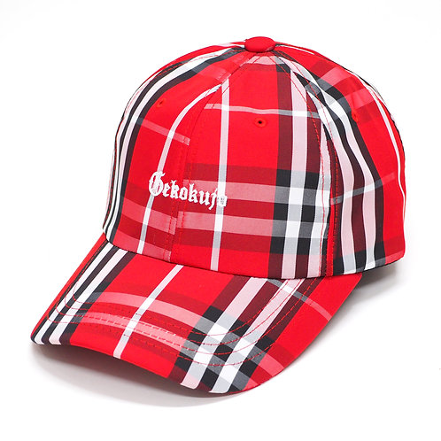 CHECK 6 PANEL CAP [RED]