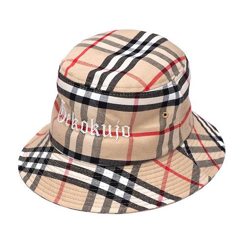CHECK BACKET HAT [BEIGE]