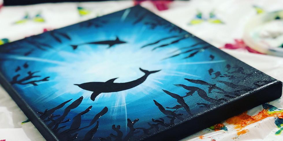 Virtual Paint Night - Marine Life