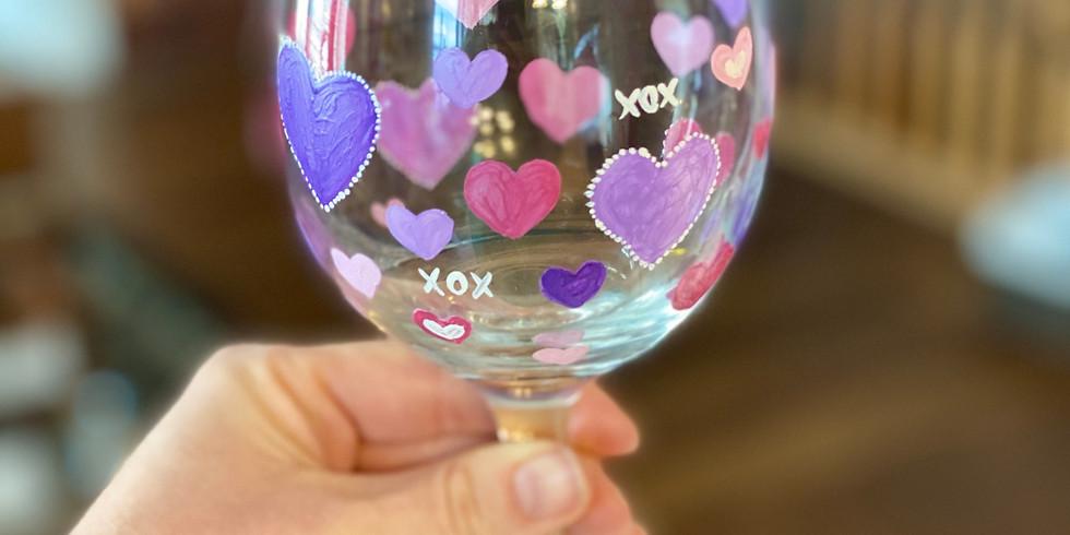 Lover's Paint Night - Wine Glasses