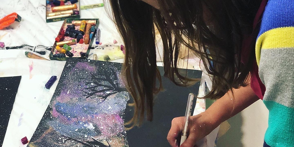 Mixed Media Art for 6-8 yr olds