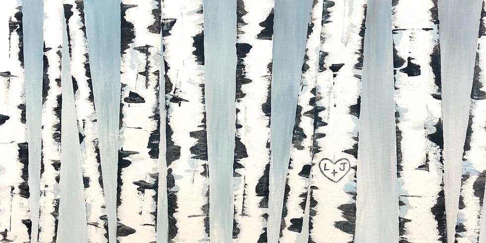 Winter Birch Painting Event