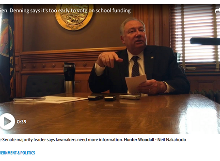 Senator Denning playing political games with school funding