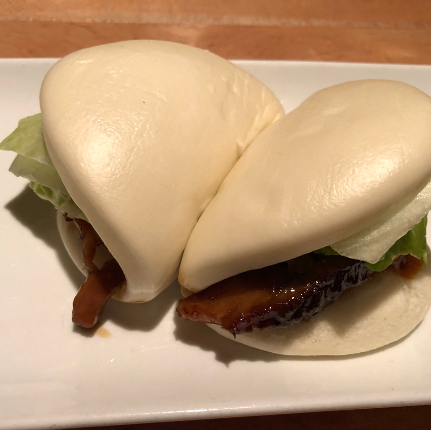 We picked the pork buns out of the three options, it was so delicious!