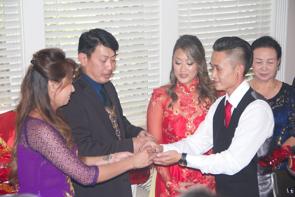 Tea offered for the Bride's parents