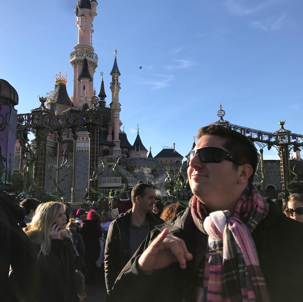 Nick's impersonating of the French men.