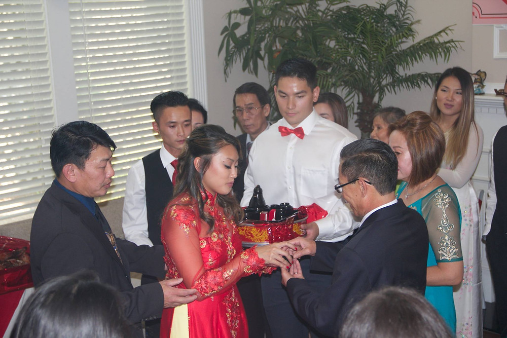 Tea offered for the Groom's parents
