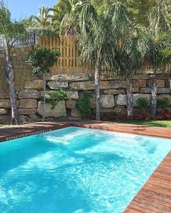Hemos completado la piscina en este proyecto de renovación de