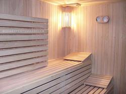 Una de nuestras construcciones de Sauna a medida