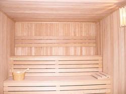construcción de sauna finlandesa a medida para uno de nuestros clientes