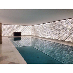 One of our works_ Indoor pool with invisible overflow feature we built for one of our special custom