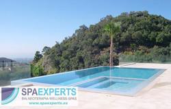 Proyecto de instalación de piscina infinity y spa reb
