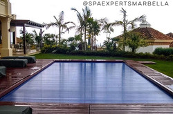 Automatic swimming pool slat cover installation for our customer, the best way to maintain your swim