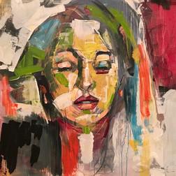 Portrait with Green Stroke