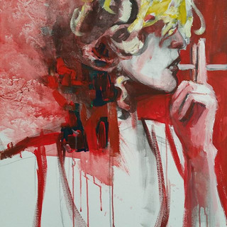 Friday Night -oil on canvas