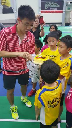 Coach Aaron's birthday celebration