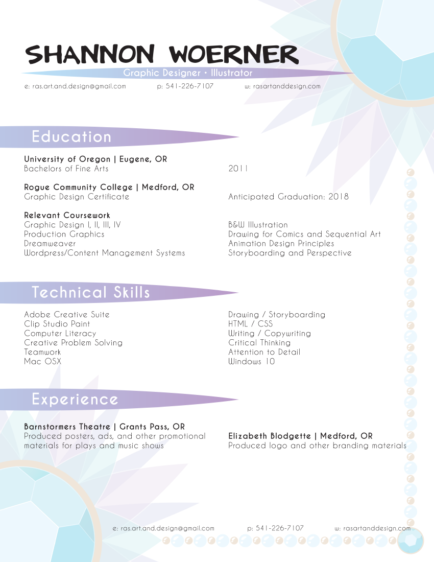 Decorative Resume