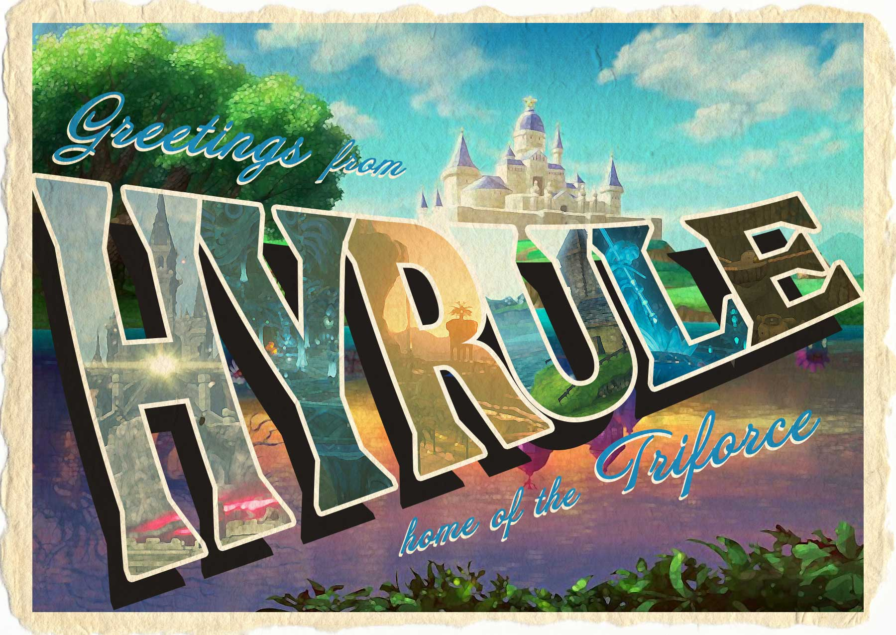 Vintage Hyrule Postcard
