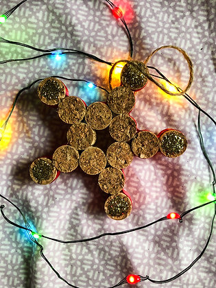 Wine Cork Star Ornament
