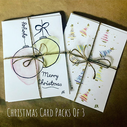3 Pack Holiday Cards