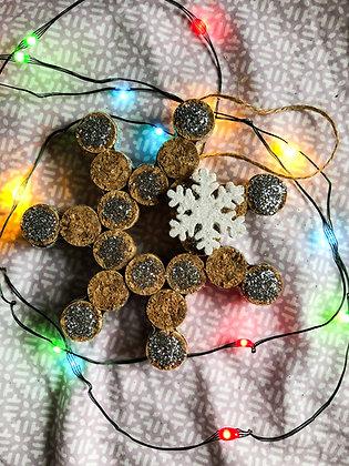 Wine Cork Snowflake Ornament